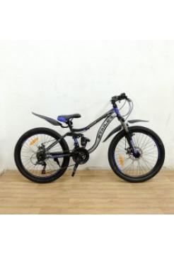 "Велосипед Stailer Pioneer- 24""зеленый-серый металлик-черный"