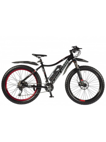 Велогибрид Benelli FAT Nerone с ручкой газа
