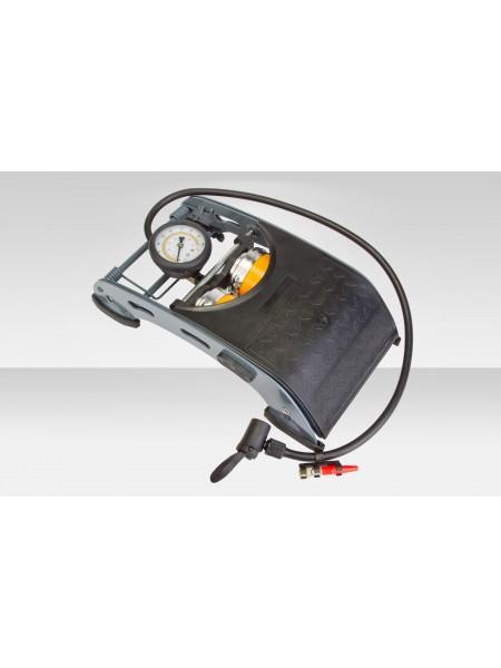 Насос велосипедный FP-0905A ножной стационарный 2-х цилиндр. стальной