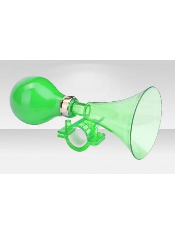 Клаксон велосипедный 71DH-05 пластик/ПВХ зелёный