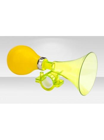 Клаксон велосипедный 71DI-02 пластик/ПВХ жёлтый