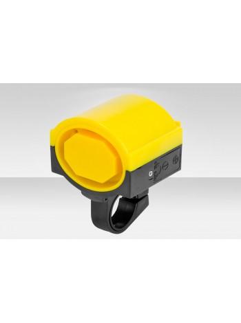 Звонок велосипедный DZ-11C электрический пластик чёрно-жёлтый