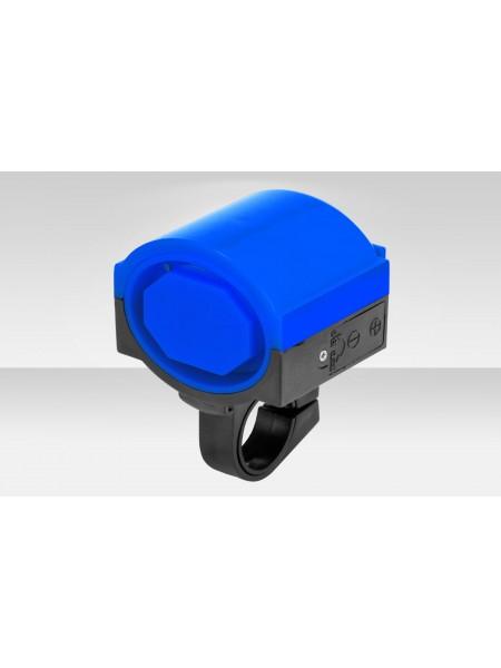 Звонок велосипедный DZ-11F электрический пластик чёрно-синий