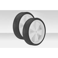 Дополнительные колеса пластик/белый, пара  (без кроншт. и осей)