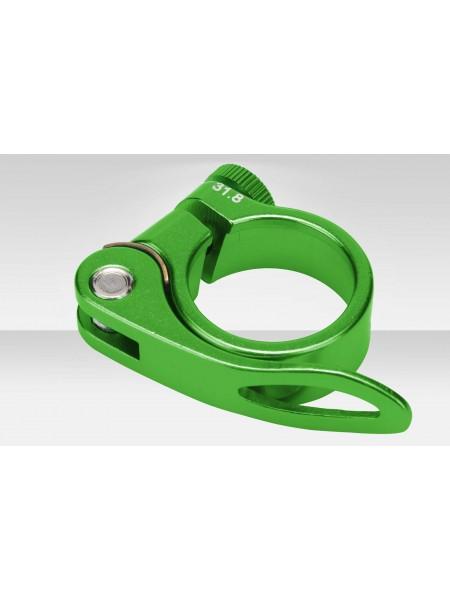 Зажим подседельной трубы BLF-Z1 31,8 мм эксцентрик алюминиевый зелёный