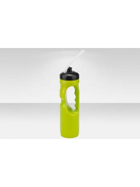 Фляга CB-15124C 1000 мл с питьевой трубкой, материал полипропилен, чёрно-жёлтая