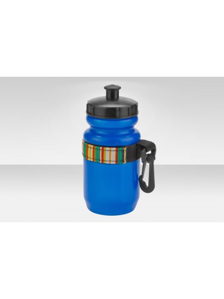 Фляга CB-1557B 200мл с карабином полиэтилен. цвета в ассортименте
