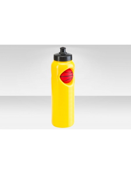 Фляга CB-1573 700 мл, Баскетбольный мяч, полиэтилен, жёлтая