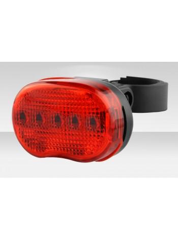Фонарь Stels задний JY-153T 3 светодиода 3 режима красно-чёрный
