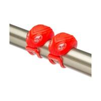Фонари декоративные Stels JY-267-18, передний с 2 белыми, задний с 2 красными светодиодами, красные