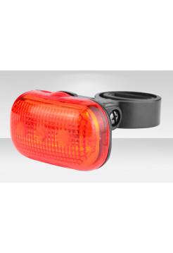 Фонарь Stels задний JY-289Т(124T) 3 светодиода 3 режима красно-чёрный
