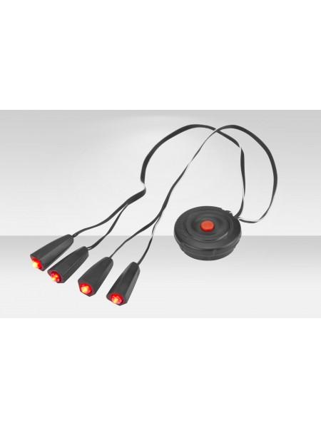 Фонари габаритные Stels JY-389 на шлем 4 светодиода 3 режима