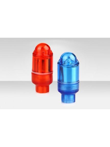 Фонари Stels на ниппель декоративные JY-505A 2 шт. красный и синий