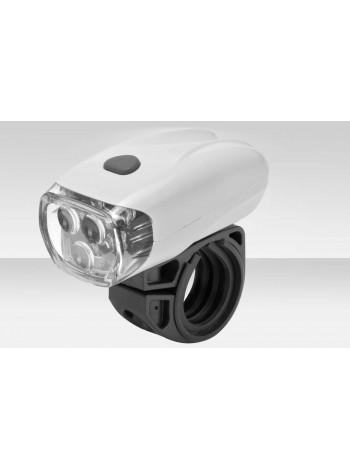 Фонарь Stels передний JY-566 3 светодиода 2 режима белый