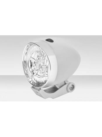 Фонарь Stels передний JY-592 3 светодиода серебристо-белый