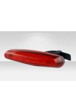 Фонарь Stels задний JY-602T 5 светодиодов 4 режима красно-чёрный