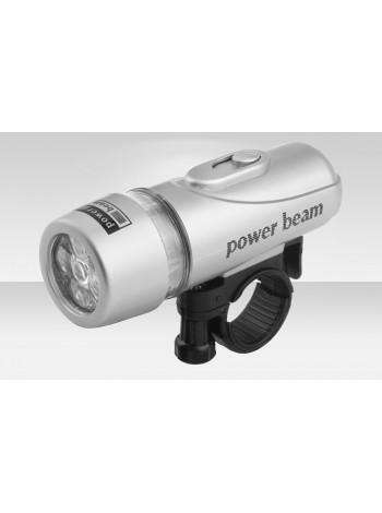 Фонарь Stels передний (ручной) JY-808 5 светодиодов 3 режима серебристый