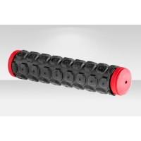 Грипсы велосипедные VLG-184D2 130мм чёрно-красные
