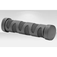 Грипсы XH-G57BL 130 мм с кольцами алюм. чёрные в инд. упаковке