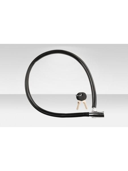 Велосипедный трос-замок 86302 длина 650мм, диам.10мм, чёрно-серебристый