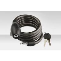 Велосипедный трос-замок 87306 дл. 1500 мм, диам. 12 мм, чёрный
