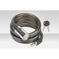 Велосипедный трос-замок GK102.503 с ключом со стальн. тросом 12x1500мм чёрно-серебр