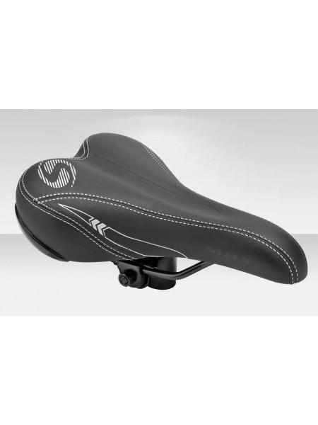 Седло велосипедное JT-3011 (3011HRNA00001) чёрно-серебр