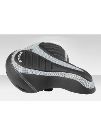 Седло велосипедное JT-5564Y (5564DENA00001) чёрно-белое