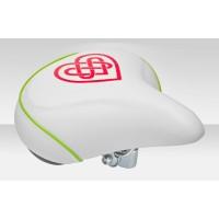 Седло велосипедное VL-80158S Navigator 150 Lady бело-красно-зелёное