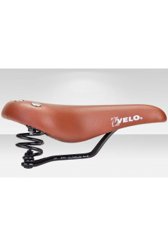 Седло велосипедное VL-8114S Velo коричневое